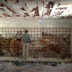 Preparazione delle pareti per il getto