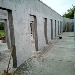 12 pareti portanti completate