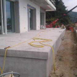2 terrazza esterna in cls completata