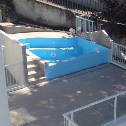 4 piscina in fase di completamento