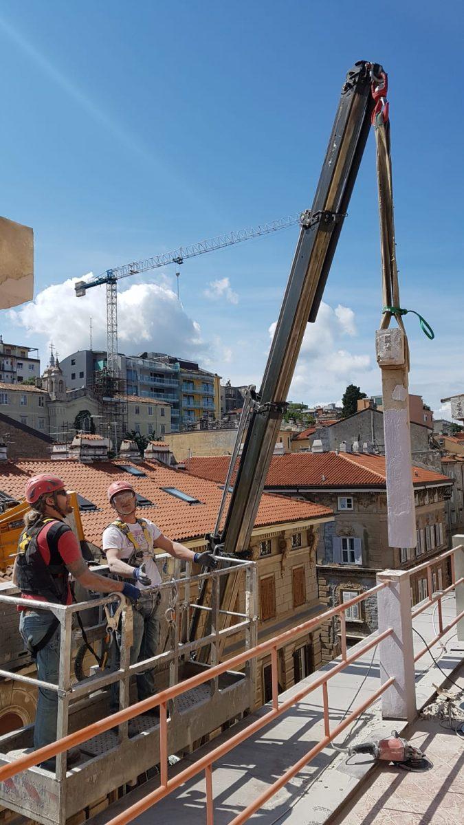 Impresa Zampieri Trieste - rimozione di pilastri 3