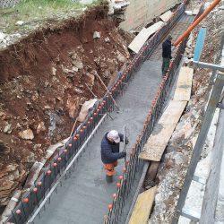 Getto delle fondazioni del tunnel