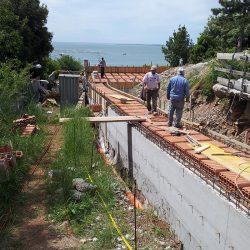 Preparazione del solaio del tunnel