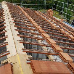 14 fase di costruzione del solaio del tetto